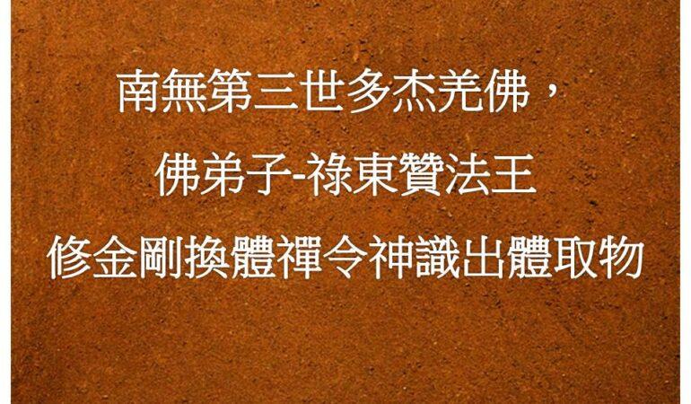 南無第三世多杰羌佛,佛弟子-祿東贊法王修金剛換體禪令神識出體取物